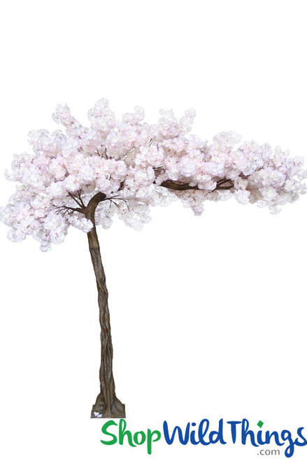 "Flowering Cherry Blossom - Soft Pink - 10.5 Feet Tall x 8 Feet Wide ""Sideswept"" - Create Arch Using 2"