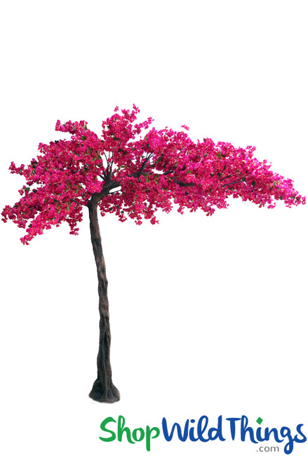 "Flowering Tree - Fuchsia Pink - 10.5 Feet Tall x 8 Feet Wide ""Sideswept"" - Create Arch Using 2"