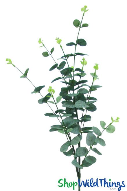 "Baby Blue Eucalyptus Spray _ 36"" Bendable Greenery Branch"