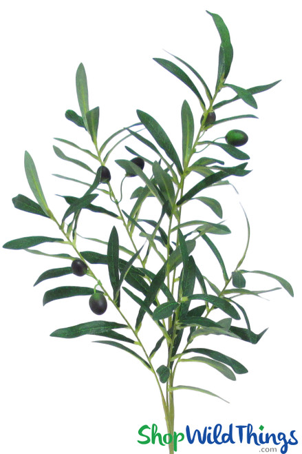"""Olive Branch Spray With Fruit  36"""" Bendable Greenery Branch"""