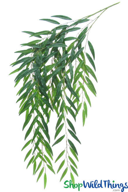 "Weeping Willow Spray - 54"" Bendable Greenery Stem - 187 leaves"