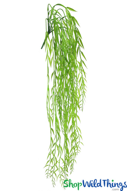"Leafy Willow Spray 32"" Draping Vine Greenery"