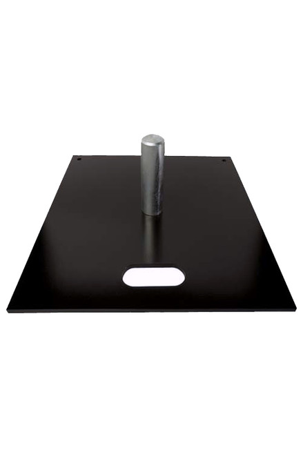 "20"" x 20"" Black Powder Slip Fit Base with 8"" x 2"" Pin"