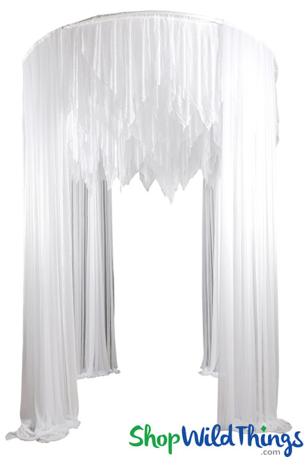 "Round Wedding Canopy Fabric Included ""Elysium"" 9.8' Tall x 7.3' Wide"