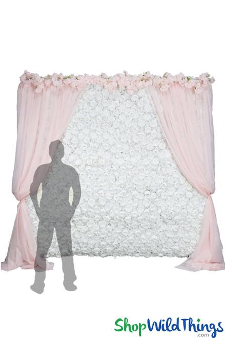 COMING SOON! Flower Wall Kit - 8' x 8' Portable Backdrop Kit - White Roses, Peonies & Hydrangeas