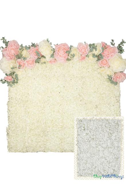 COMING SOON! Flower Wall Kit - 8' x 8' Portable Backdrop Kit - White Hydrangeas