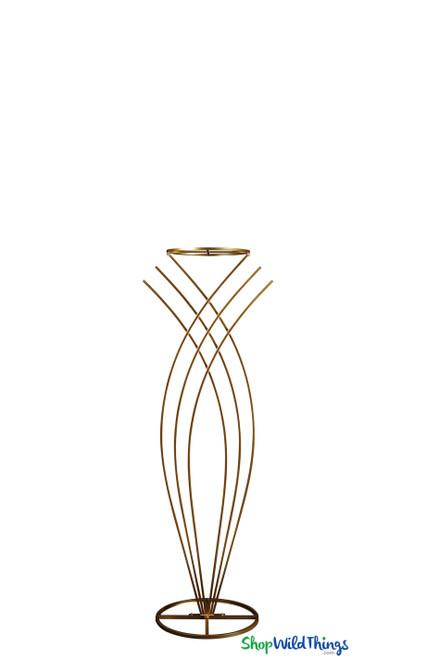 """Yasmin Gold"" Floral Riser Stand - 3' 4"""