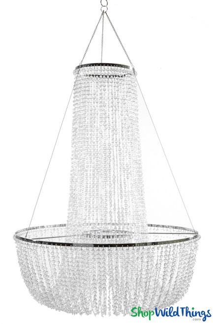 """Chandelier """"Adelaide"""" Tiered Diamond Swags  30""""H x 23.5""""W"""