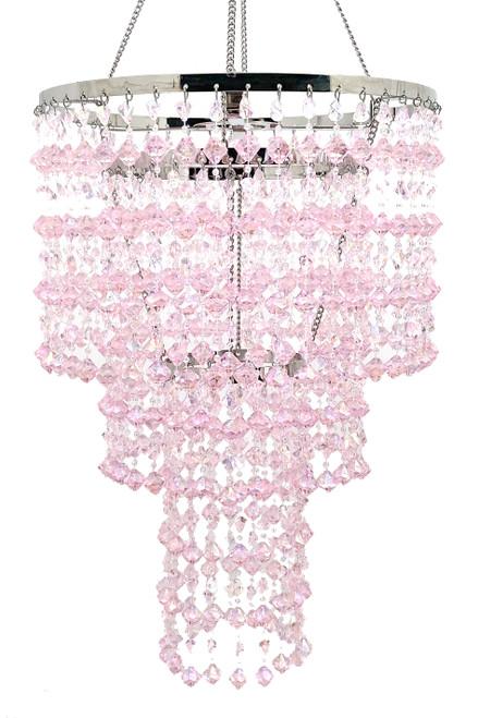 Chandelier Madison - Pink Iridescent