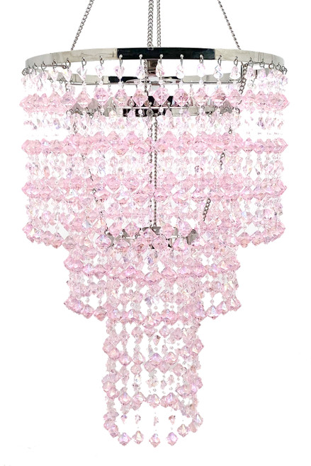 Chandelier Madison - Pink Iridescent