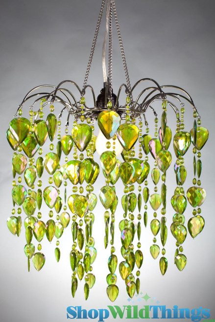 Chandelier Fountain - Iridescent Lime Green