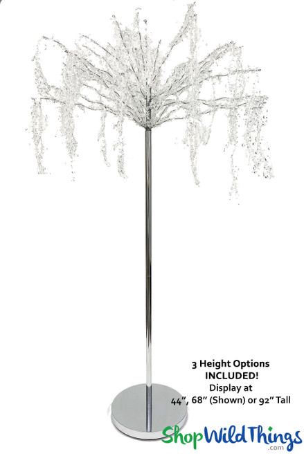"Crystal Iridescent Beaded Willow Tree ""Manhattan"" Adjustable up to 7.5 Feet"