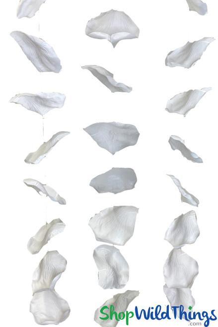 "X-Large Hanging Rose Petals Garland Set Of 3 - White - Each Strand 10 1/2"" x 6 1/2' Long"