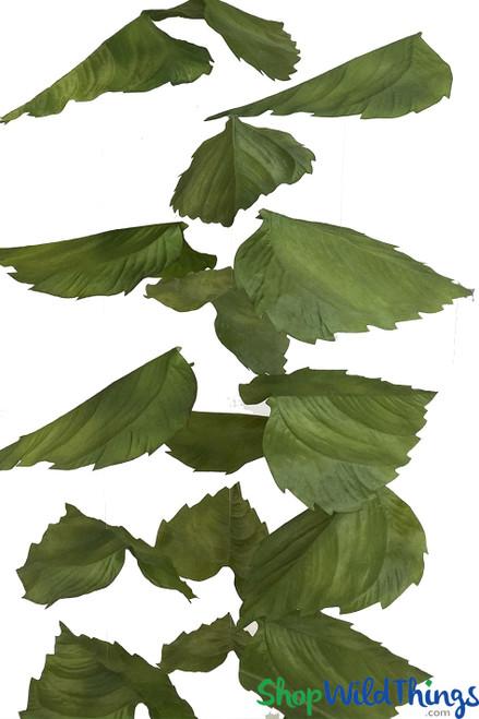 "X-Large Sunflower Leaf Garland Set Of 3 - Green - Each Strand 11"" x 6 1/2' Long"