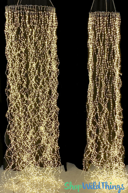 "Hanging LED Column or Canopy! 4800 Fairy Lights 10 Feet Long x 12"", 40 Strands"