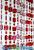 Emeralds Beaded Curtain - Pink & Red Iridescent - 3 ft x 6 ft