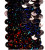 BOGO Stretchable Sequin Trim -  Holographic Black - 30 Feet