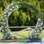 "Metal Round Wedding Arch ""Seraphina White""   6'10""H x 7'6""W - Heavy Duty"