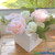 """Silk Peony Bouquet or 5 Individual Stems- Soft Pink Spray - 12"""" Tall"""