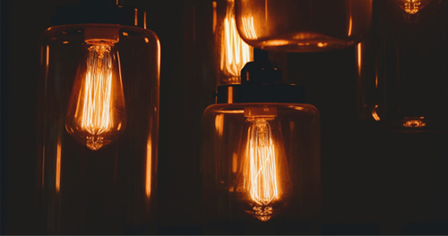 antique filament bulbs