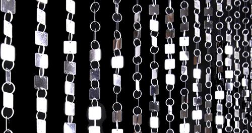 shimmy metallic curtains