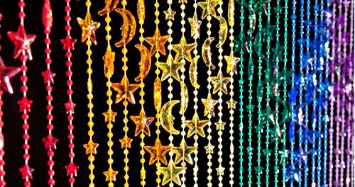 stars moons beaded curtains
