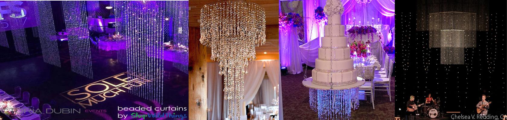 Diamante Duo Large Diamonds Beaded Curtains - ShopWildThings