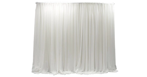 sheer fabric event curtains