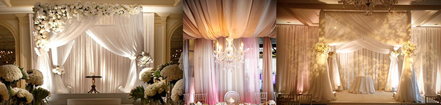 Pipe and Drape Backdrops Wedding Decor