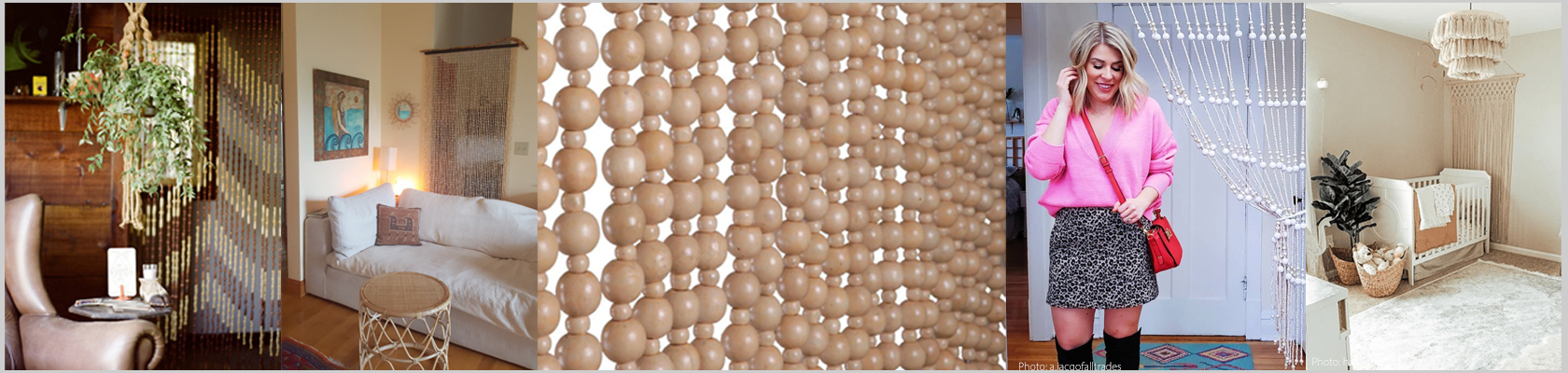 Wooden Beaded Curtains - ShopWildThings