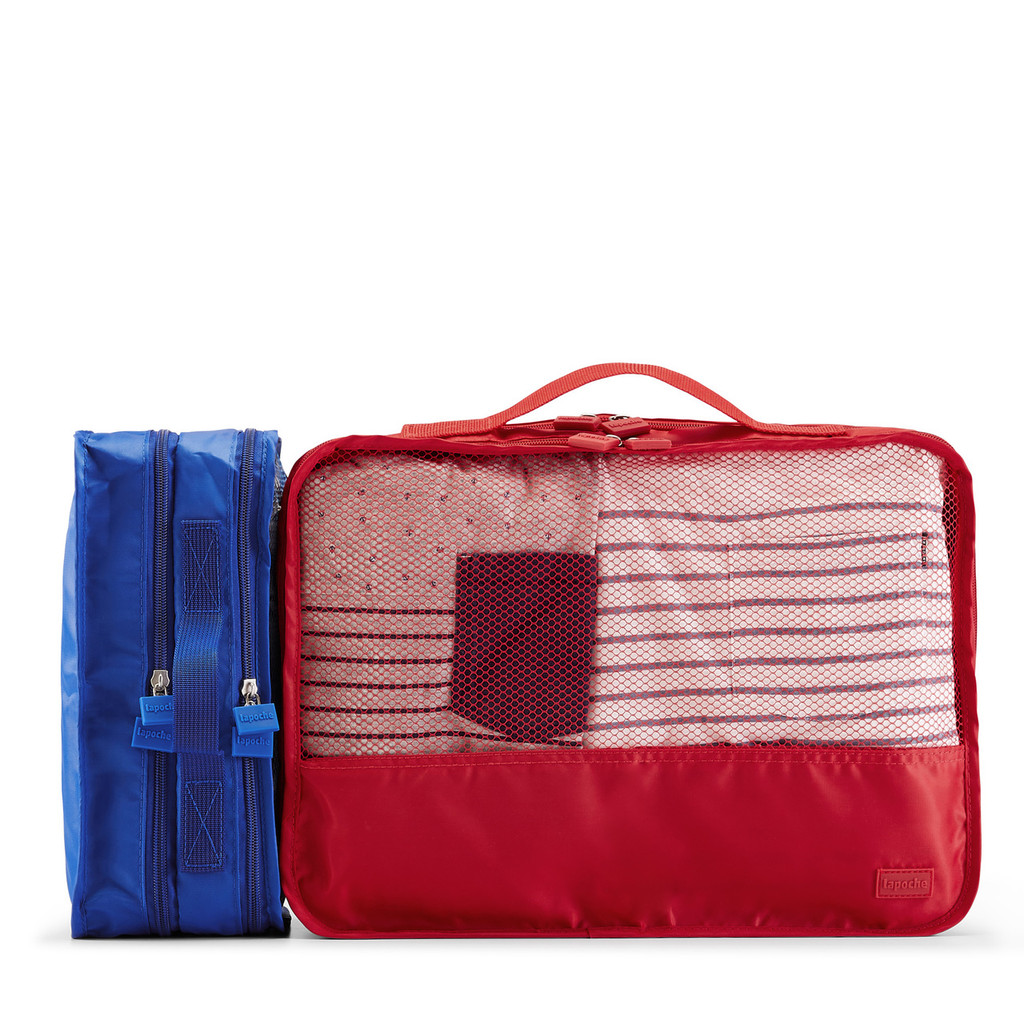 garment cube (small) blue & (medium) red