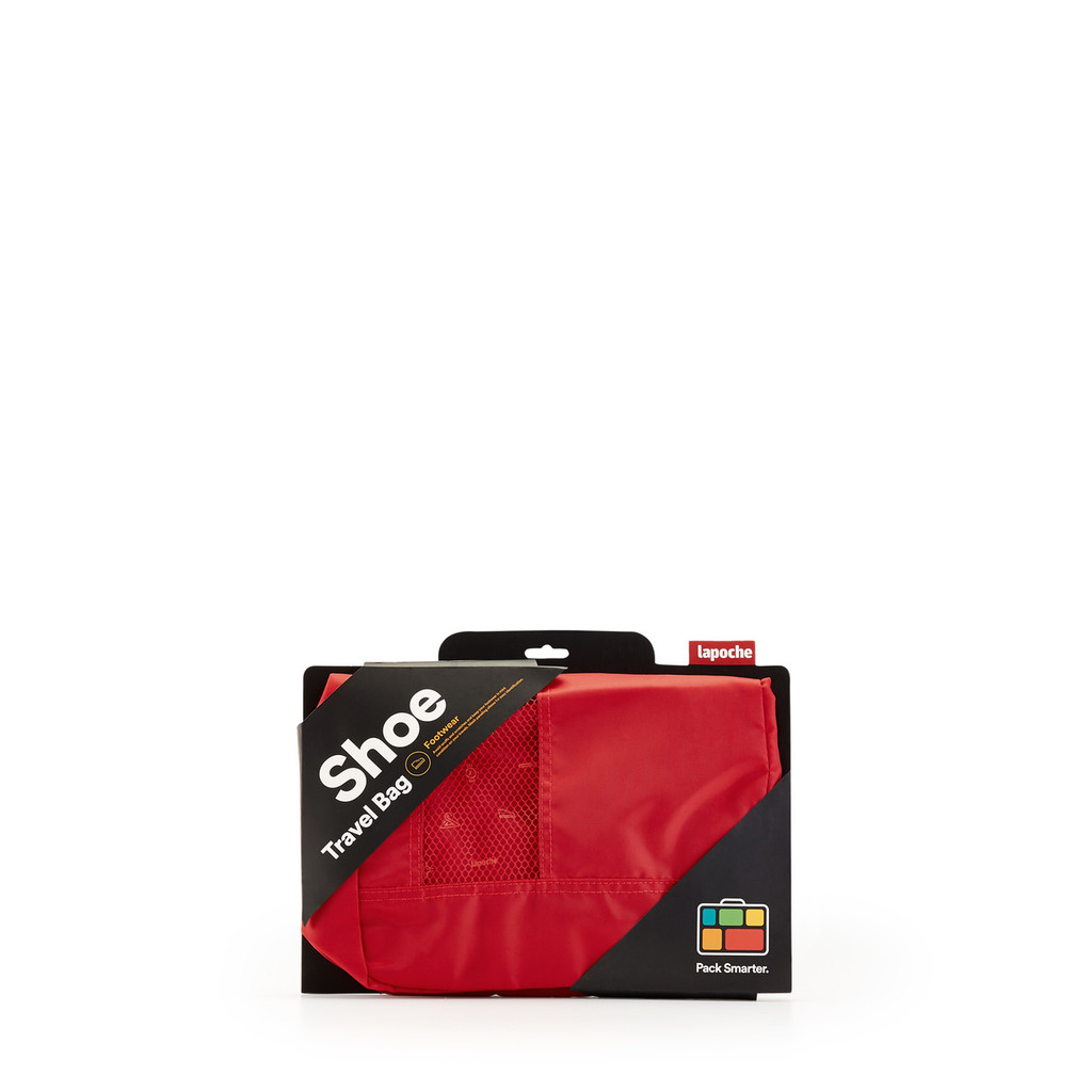 Shoe Bag red in packaging