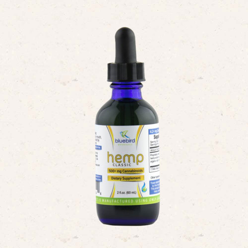 Bluebird Botanicals-Classic Hemp Blend (500MG CBD)