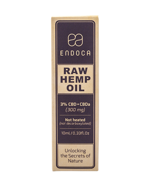 Endoca-RAW Hemp Oil Drops (300mg CBD+CBDa)
