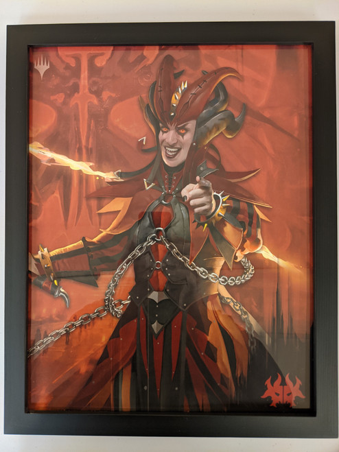 Ravnica Weekend Poster - Framed - Rakdos Razorwitch