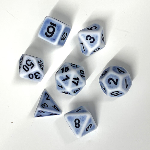 Poly Dice - Ancient - Cerulean Blue