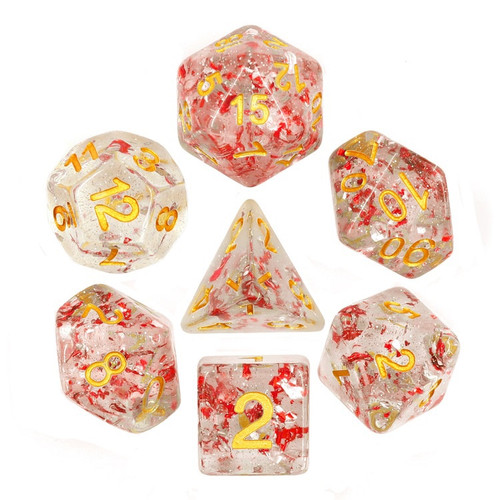 Poly Dice - Glitter - Ruby