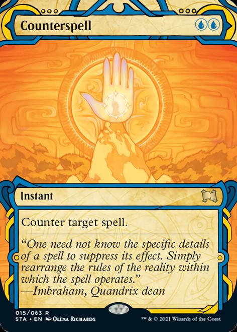 Counterspell Etched Foil (sta)