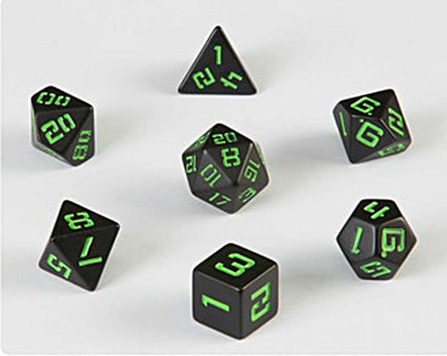 LP IBM3270 Black with Green Poly Dice