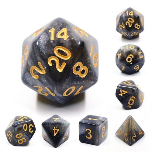 Poly Dice - Mythic - Silver Sparkle