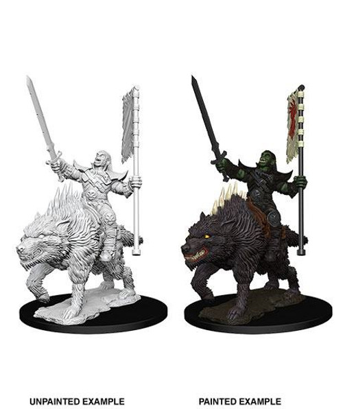 Pathfinder Deepcuts - Orc on Dire Wolf