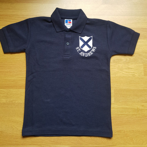 St. Andrew's Navy Polo Shirt