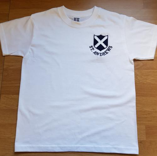 St. Andrew's White PE  T-Shirt