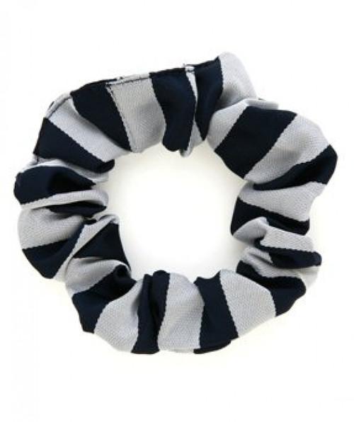 School Scrunchie Navy/White