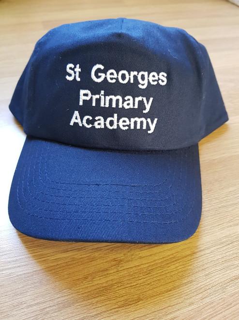 St. George's Navy Embroidered Cotton Cap