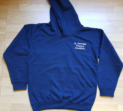 St George's Primary Embroidered Navy School Hoodie - Adult