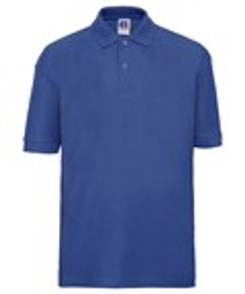 Mill Ford Embroidered Blue Polo (Tuesday)