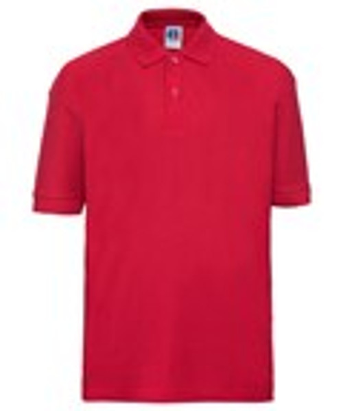 Mill Ford School Embroidered Red Polo (Wednesday)