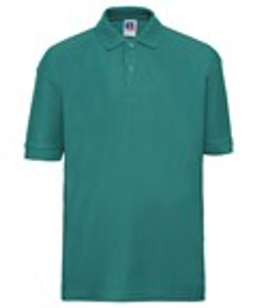 Mill Ford School Embroidered Green Polo Adult (Thursday)