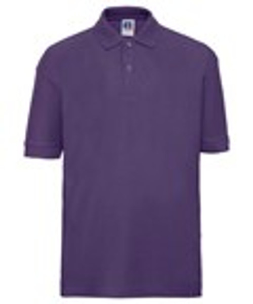 Mill Ford School Embroidered Purple Polo Adult (Friday)